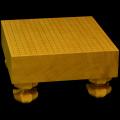 本榧碁盤 3寸8分足付(天柾) ga30007