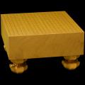 本榧碁盤 4寸5分足付(柾目) ga40015
