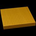 国産本榧卓上碁盤 1寸7分(一枚板・天柾) gb10094