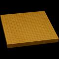 本榧卓上碁盤 1寸2分(一枚板・追柾) gb10095