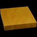本榧卓上碁盤 2寸4分(一枚板・天地柾) gb20207