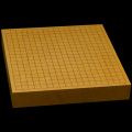 本榧卓上碁盤 2寸2分(一枚板・天地柾) gb20216