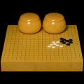 本榧2寸卓上碁盤セット(ハギ盤 上)