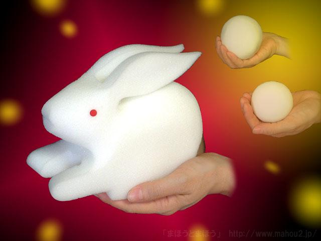 変身スポンジ [ウサギになるボール]