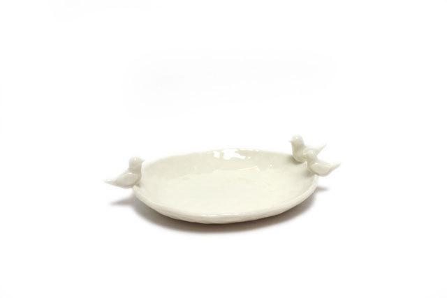 ことり楕円皿