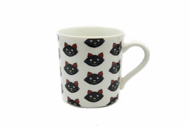 マグカップ / 黒猫整列