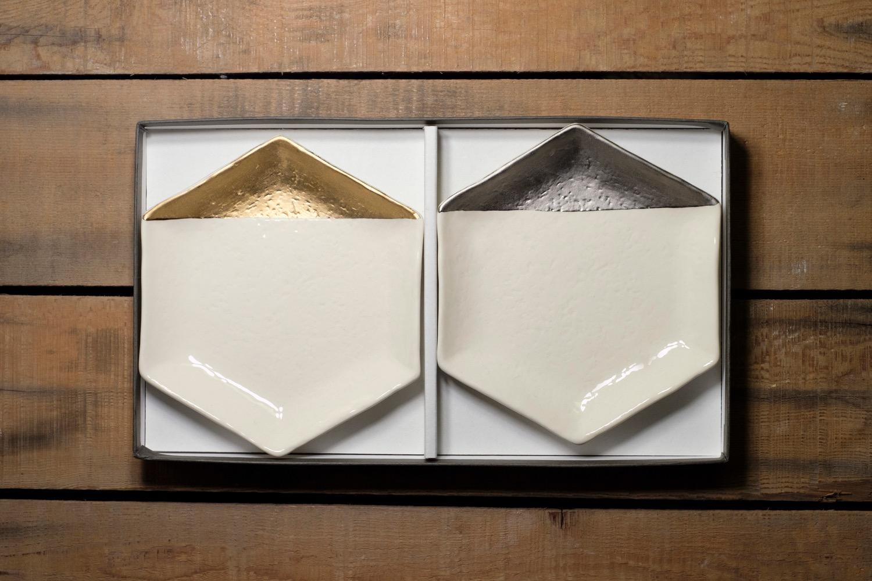 m.m.d. / 特別釉薬 取皿 / 2枚セットギフトボックス&熨斗付き