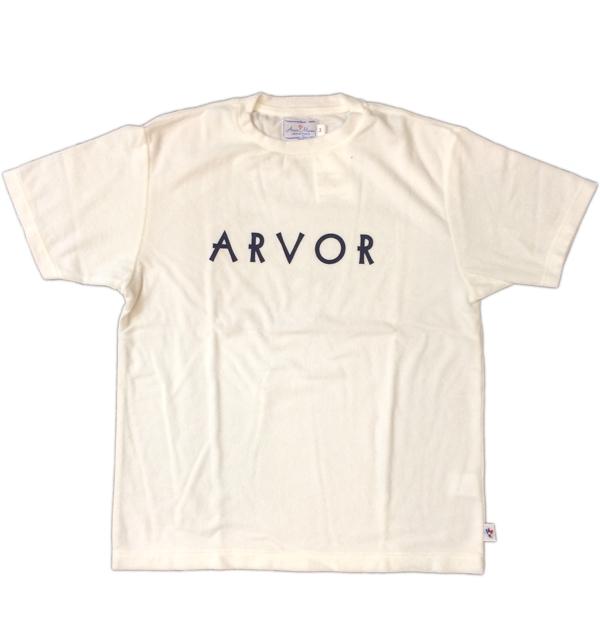 アルボマレー 【Arvor Maree】 パイルプリントTシャツ PILE PRINT TEE WHITE