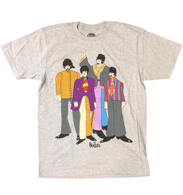 ザ・ビートルズ 【THE BEATLES】 バンドTEE YELLOW SUBMARINE GRAY