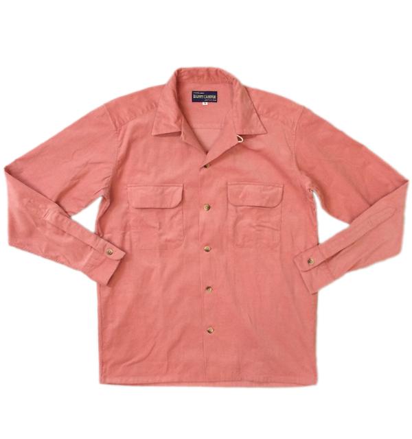 ハッピーキャンパー 【HAPPY CAMPER】 OPENSHIRT SUMMER CORDUROY サマーコーデュロイオープンシャツ PINK