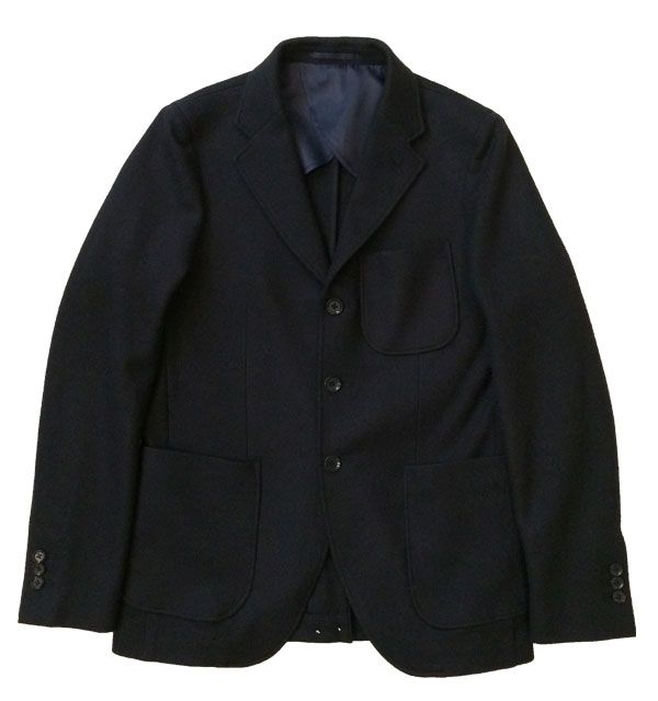 アルブル 【arbre】 Tailored Jacket Boild Wool NAVY
