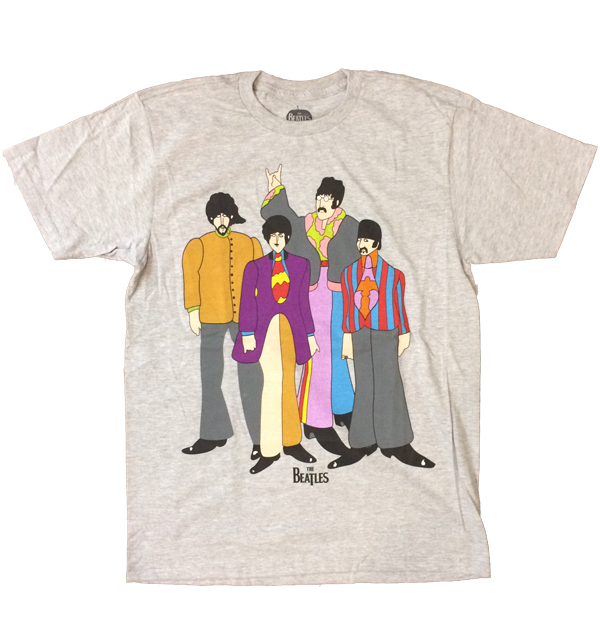 ザ・ビートルズ 【THE BEATLES】 バンドTEE YELLOW SUBMARINE GRAY