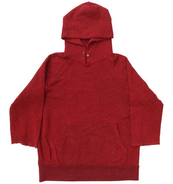 カリフォルニアアクティブ 【CALIFORNIA ACTIVE】 Pullparka 3/4sleeve 七部袖プルパーカー 後染め RED