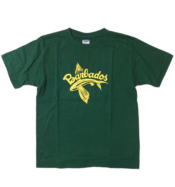 ダブルワークス 【DUBBLE WORKS】  ラフィ天竺Tシャツ BARBADOS GREEN