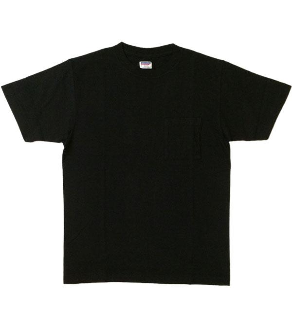 ダブルワークス 【DUBBLE WORKS】 ラフィ天竺 ポケットTシャツ POCKET T-SHIRT 無地 PLAIN BLACK