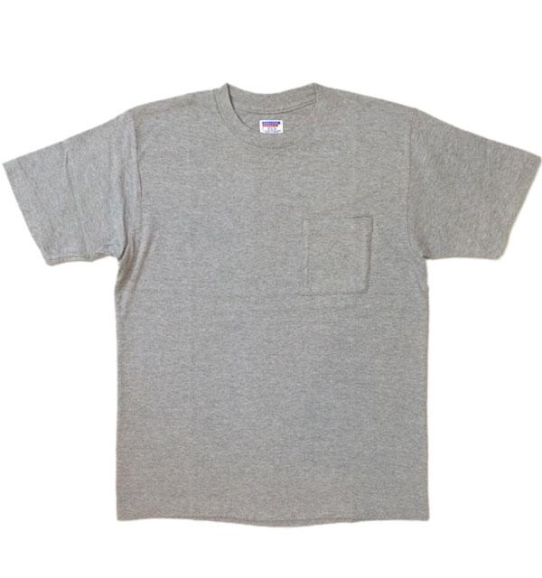 ダブルワークス 【DUBBLE WORKS】 ラフィ天竺 ポケットTシャツ POCKET T-SHIRT 無地 PLAIN GRAY
