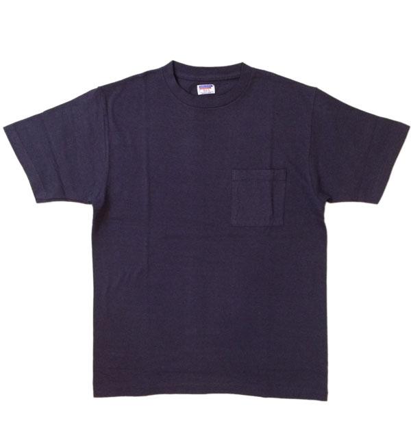 ダブルワークス 【DUBBLE WORKS】 ラフィ天竺 ポケットTシャツ POCKET T-SHIRT 無地 PLAIN NAVY