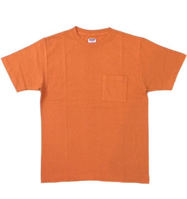 ダブルワークス 【DUBBLE WORKS】 ラフィ天竺 ポケットTシャツ POCKET T-SHIRT 無地 PLAIN ORENGE