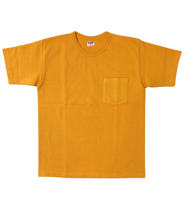 ダブルワークス 【DUBBLE WORKS】 8番手 度詰め丸胴天竺 ポケットTシャツ HEAVY WEIGHT POCKET TEE Lot.37002 GOLD