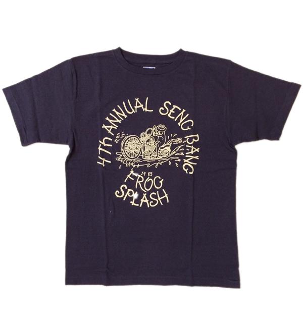 ダブルワークス 【DUBBLE WORKS】 ラフィ天竺Tシャツ FLOG SPLASH NAVY