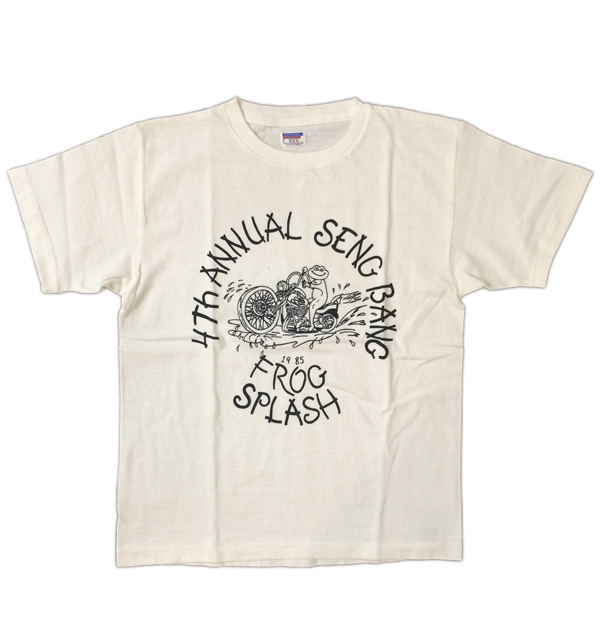 ダブルワークス 【DUBBLE WORKS】 ラフィ天竺Tシャツ FLOG SPLASH WHITE