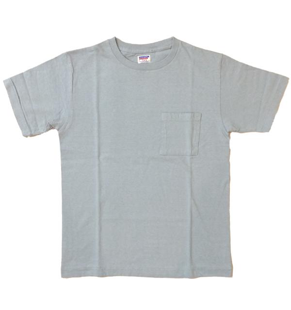 ダブルワークス 【DUBBLE WORKS】 ラフィ天竺 ポケットTシャツ POCKET T-SHIRT 無地 PLAIN BLUE