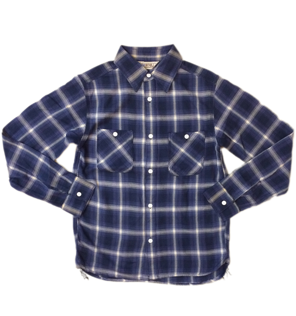 ファイブブラザー 【FIVE BROTHER】 ライトフランネルシャツ Light Flannel Shirt NAVY
