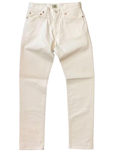 エフオービーファクトリー 【F.O.B FACTORY】 16OZ STRETCH REGULER 5P PANTS  WHITE JEANS F1144