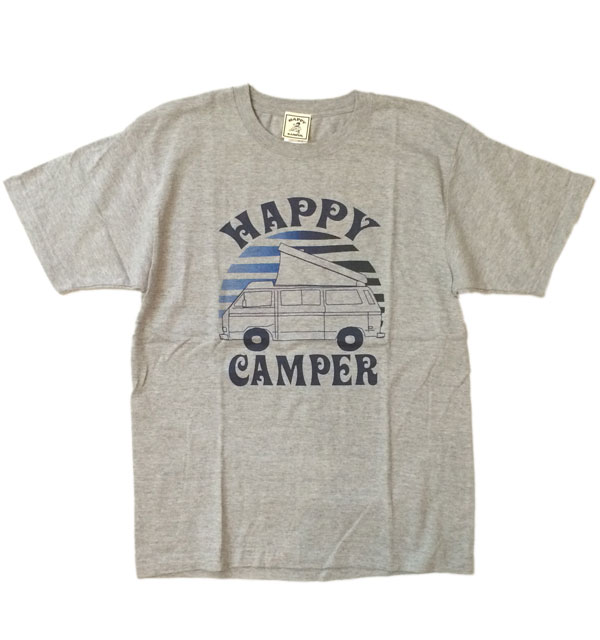 ハッピーキャンパー 【HAPPY CAMPER】 HAPPY CAMPER VAN TEE GRAY