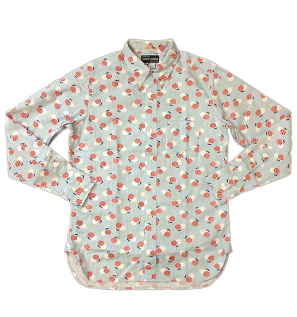 ハッピーキャンパー 【HAPPY CAMPER】 USAインポート生地 ボタンダウンシャツ CHERRY STRIPE