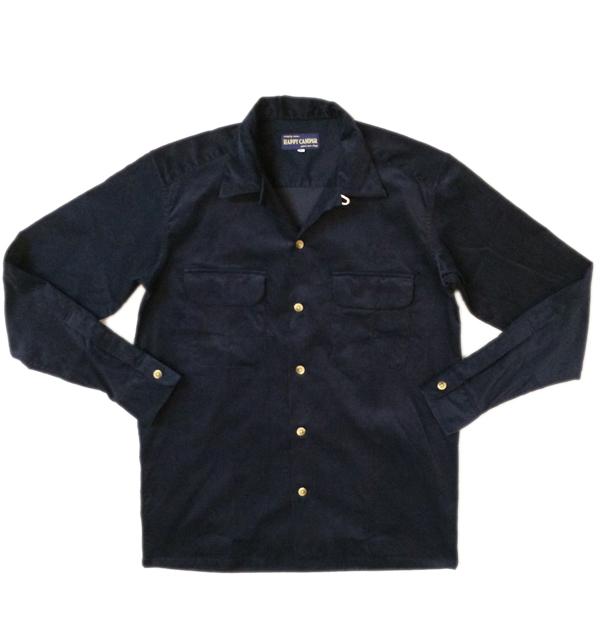 ハッピーキャンパー 【HAPPY CAMPER】 OPEN SHIRT SUMMER CORDUROY サマーコーデュロイオープンシャツ NAVY
