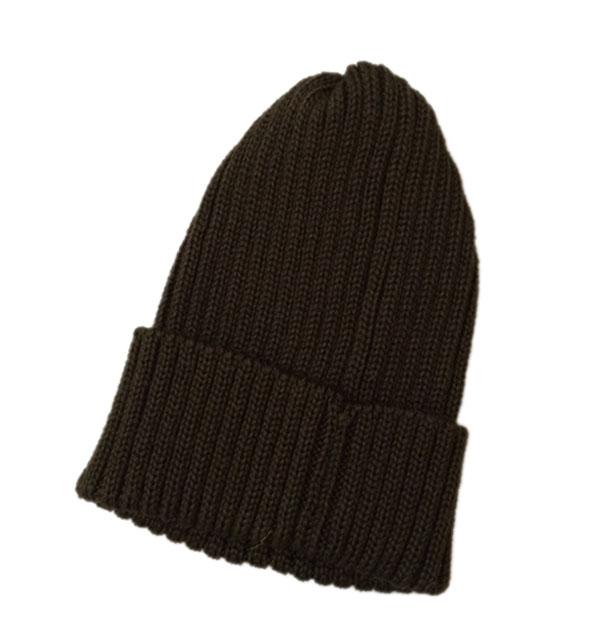 ハイランド2000 【HIGHLAND2000】 2 x 1 British Wool Watchcap ニットキャップ BROWN
