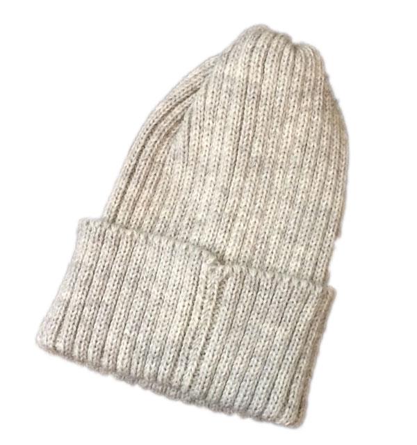 ハイランド2000 【HIGHLAND2000】 2 x 1 British Wool Watchcap ニットキャップ LIGHT GRAY