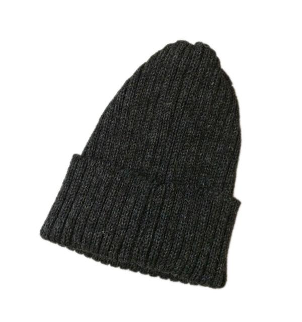 ハイランド2000 【HIGHLAND2000】 2 x 1 British Wool Watchcap ニットキャップ CHARCOAL