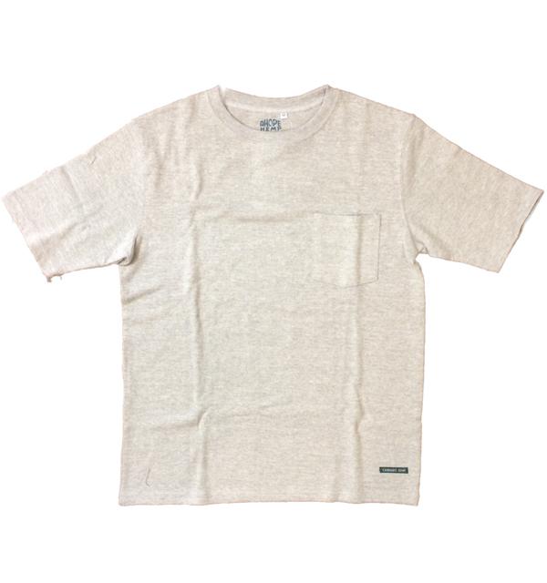 アホープヘンプ 【A HOPE HEMP】 ベーシックポケットTシャツ Regular S/S Pocket Tee GRAY