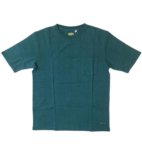 アホープヘンプ 【A HOPE HEMP】 ベーシックポケットTシャツ Regular S/S Pocket Tee GREEN
