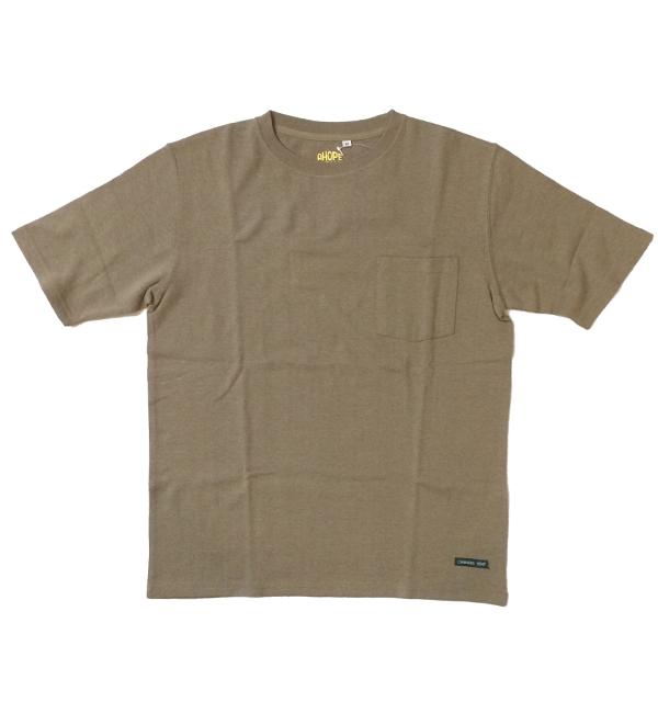 アホープヘンプ 【A HOPE HEMP】 ベーシックポケットTシャツ Regular S/S Pocket Tee OLIVE