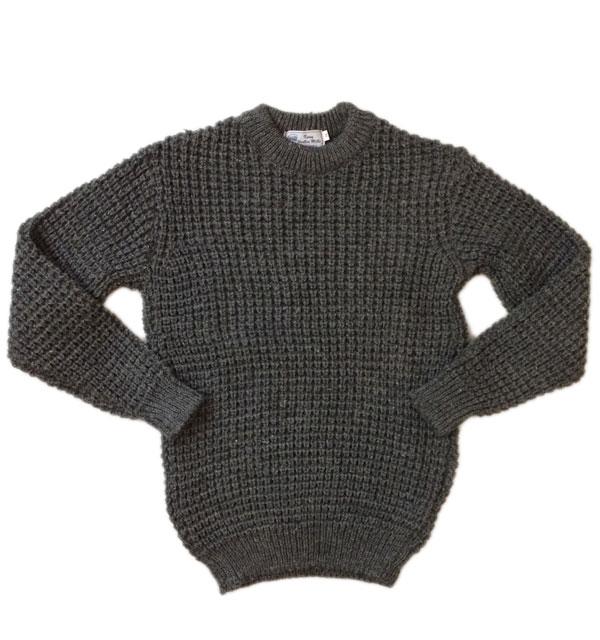 ケリーウーレンミルズ  【KERRY WOOLEN MILLS】 ポップコーンクルーネックセーター NIMBUS