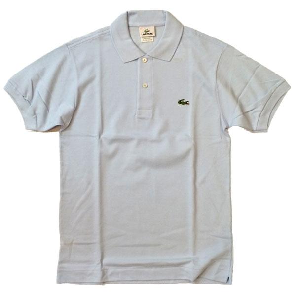 ラコステ 【LACOSTE】  半袖ポロシャツ L1212 SAX BLUE 送料無料