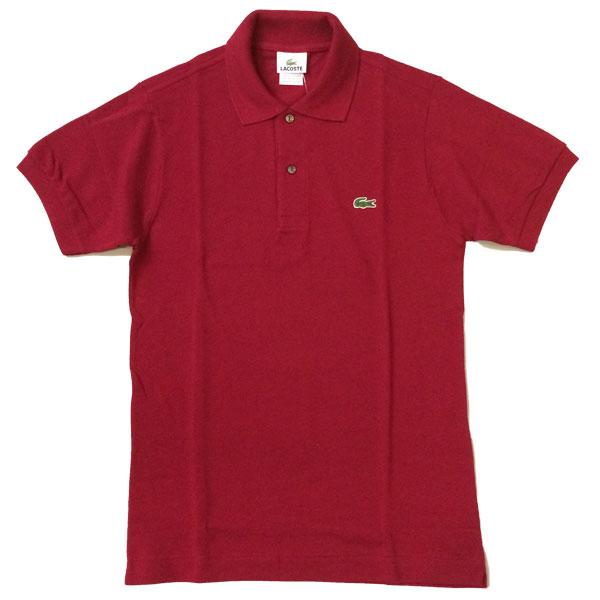 ラコステ 【LACOSTE】  半袖ポロシャツ L1212 BURGUNDY 送料無料