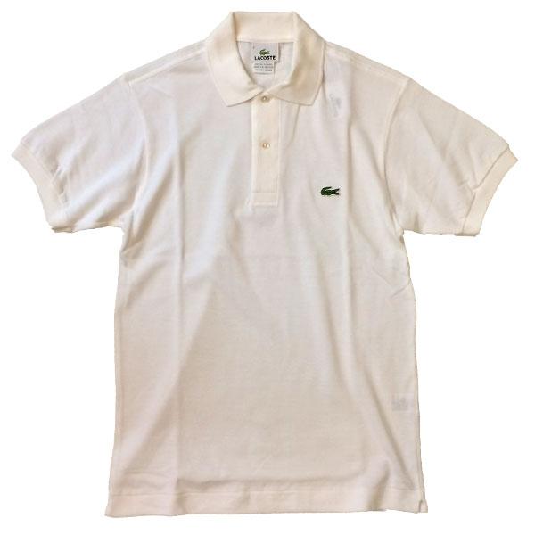 ラコステ 【LACOSTE】  半袖ポロシャツ L1212 WHITE 送料無料
