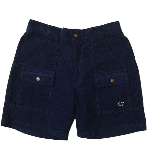オーシャンパシフィック 【OCEAN PACIFIC】 Corduroy Bush Shorts コーディロイブッシュショーツ NAVY