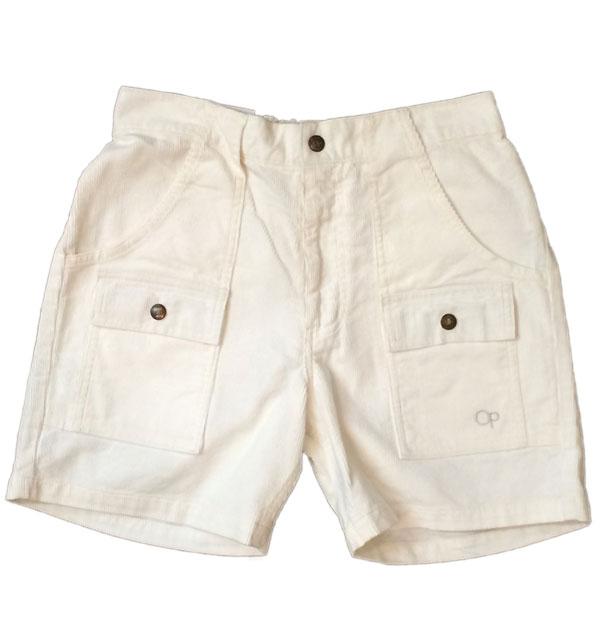 オーシャンパシフィック 【OCEAN PACIFIC】 Corduroy Bush Shorts コーディロイブッシュショーツ WHITE