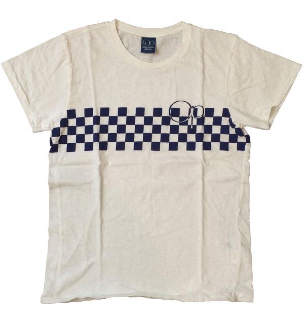 オーシャンパシフィック 【OCEAN PACIFIC】  チェッカープリントTシャツ WHITE