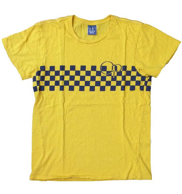 オーシャンパシフィック 【OCEAN PACIFIC】  チェッカープリントTシャツ YELLOW