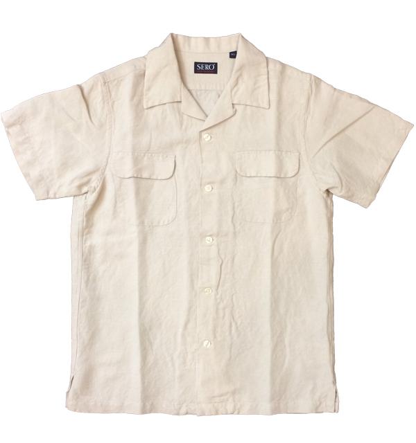 セロ 【SERO】 半袖オープンカラーシャツ S/S OPEN SHIRT BEIGE