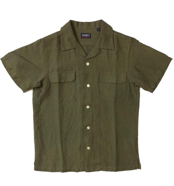 セロ 【SERO】 半袖オープンカラーシャツ S/S OPEN SHIRT OLIVE