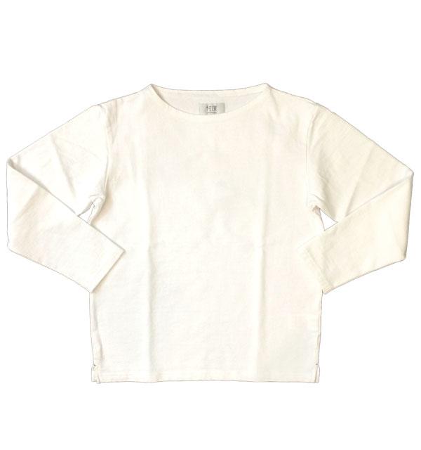 ソンタク 【SONTAKU】 VASQUE SHIRT バスクシャツ 9分袖 WHITE