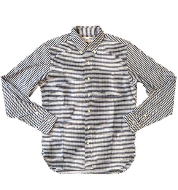 ソンタク 【SONTAKU】 OXFORD BD SHIRTS オックスフォードギンガムチェックボタンダウンシャツ NAVY