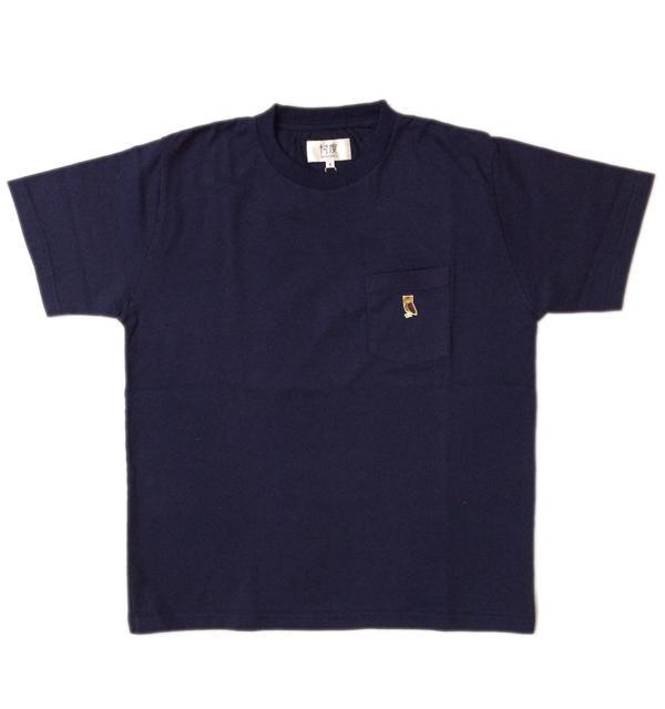 ソンタク 【SONTAKU】 ミドルウエイト S/S POCKET T-SHIRTS ポケTシャツ フクロウ NAVY